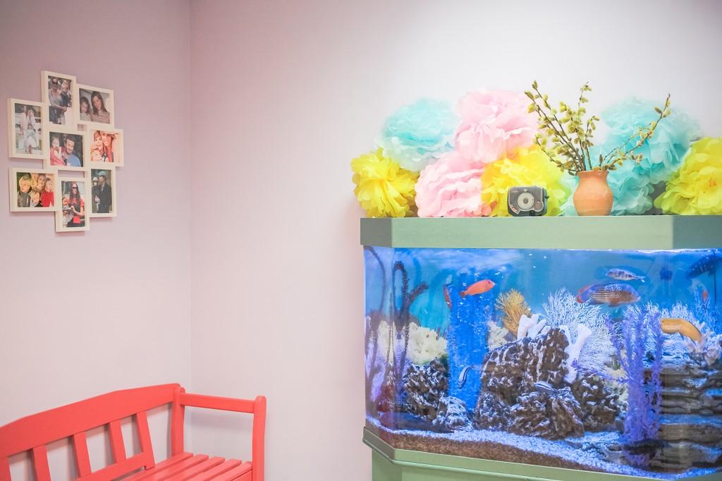 Аквариум в детском центре
