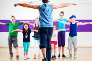 Фитнес для детей в танцевальной школе