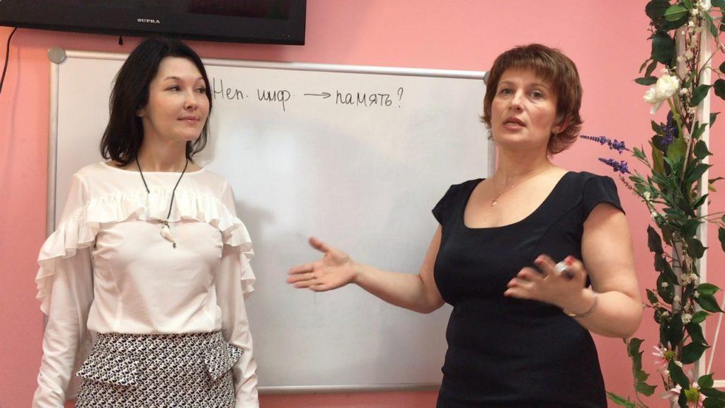 Зарина Ивантер и Ольга Лысенко в детском центре Лас-Мамас