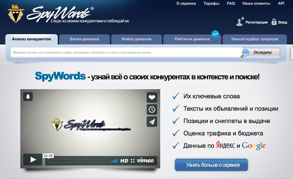 SEO. Spywords