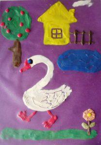 Пластилинография - работа детей